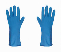 guantes azules
