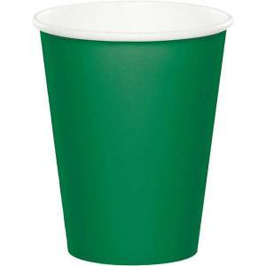 vaso de carton de color verde 12 onzas